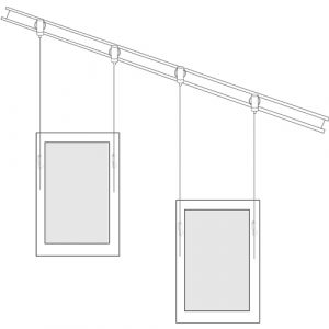 Angled Art Rail Hanging System