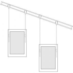Angled Art Rail Hanging System