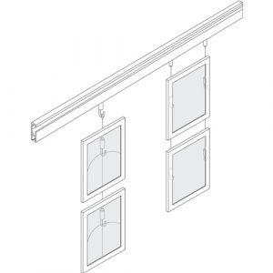 Art Rail Hanging Display - CRJ Wall Mount Rail, CR1 & CR6 Hangers