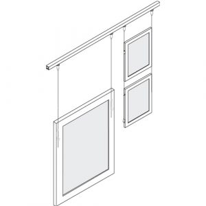 Ceiling Hung Art Rail Hanging System