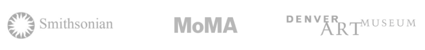 Featured in Smithsonian, MoMA, Denver Art Museum (logos)
